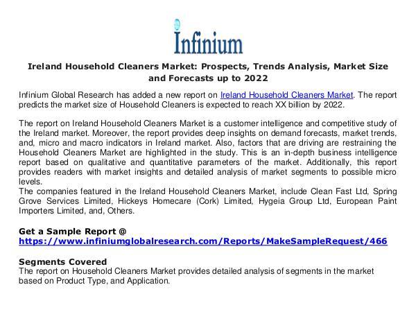 Ireland Household Cleaners Market- Infinium Global