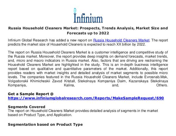 Russia Household Cleaners Market- Infinium Global