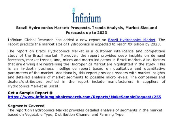Brazil Hydroponics Market - Infinium Global Resear