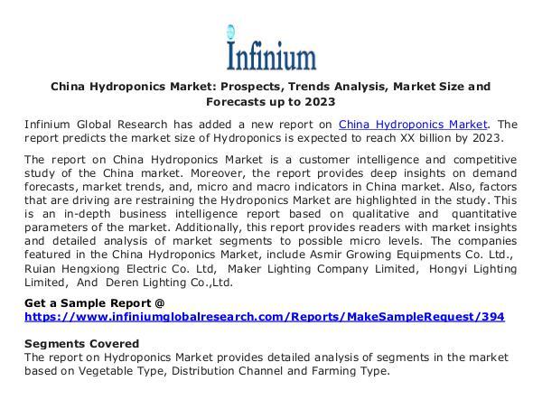 China Hydroponics Market - Infinium Global Researc