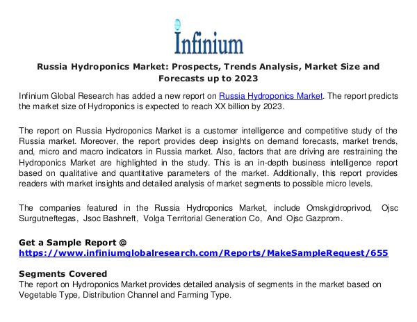 Russia Hydroponics Market - Infinium Global Resear