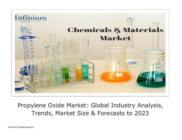 Propylene Oxide Market Global Industry Analysis Tr