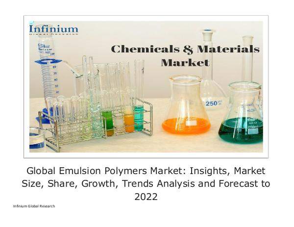 Global Emulsion Polymers Market Insights, Market S