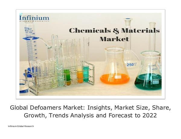 Infinium Global Research Global Defoamers Market - IGR 2022