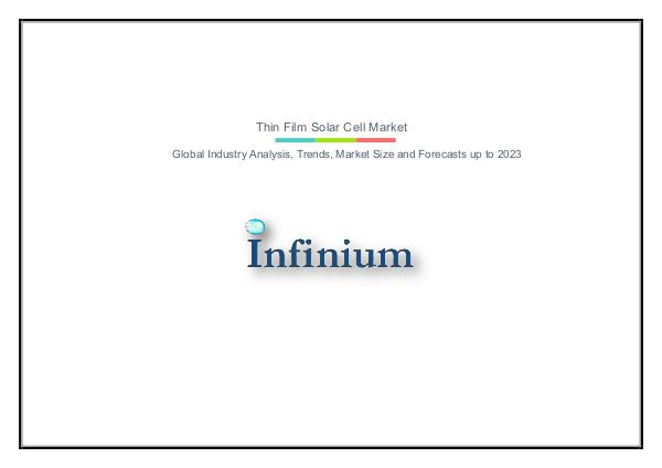 Infinium Global Research Thin Film Solar Cell Market