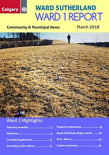 Ward 1 Report, March 2018