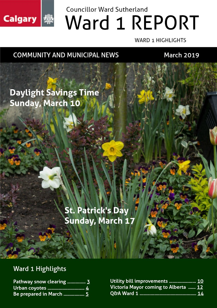 March 2019 Ward 1 Report