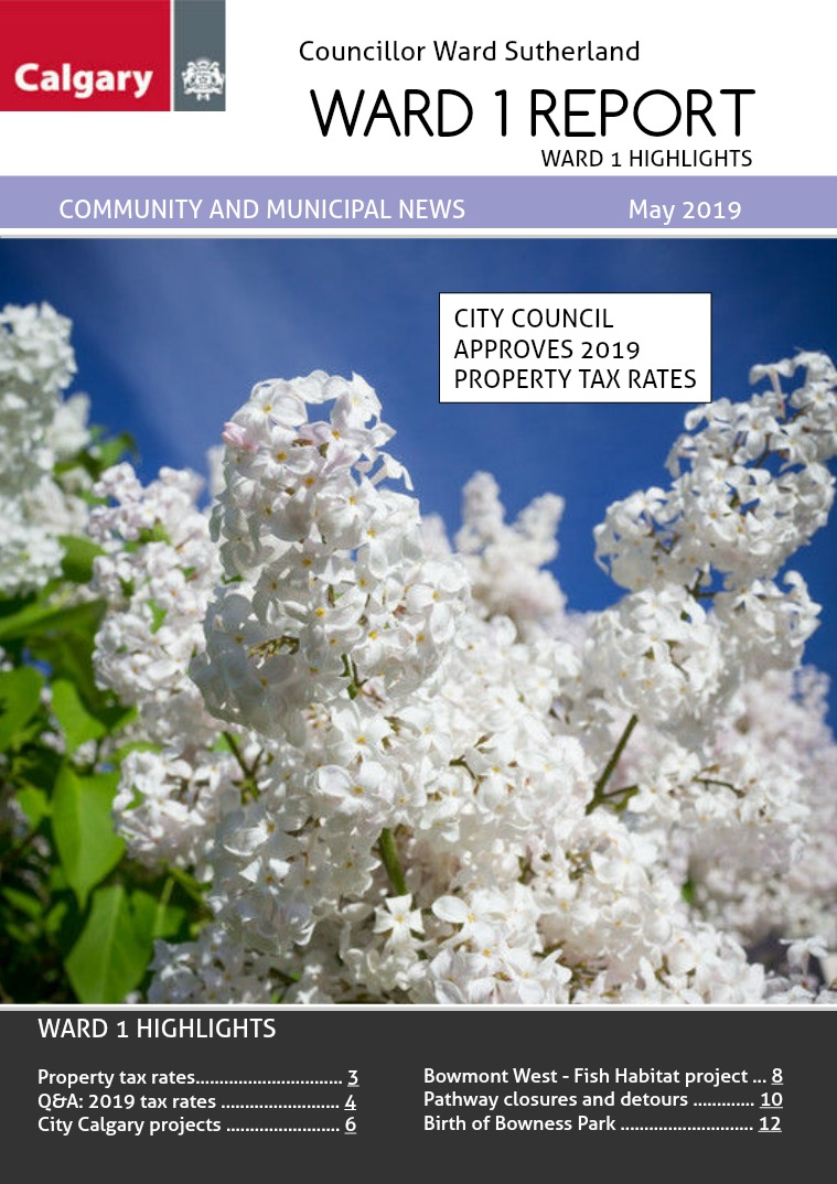 May 2019 Ward 1 Report