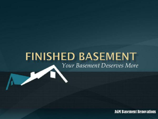 Finished Basement - Your Basement Deserves More Finished Basement