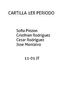CARTILLA PRIMER PERIODO