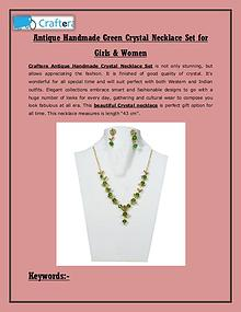 Green Crystal Necklace Set