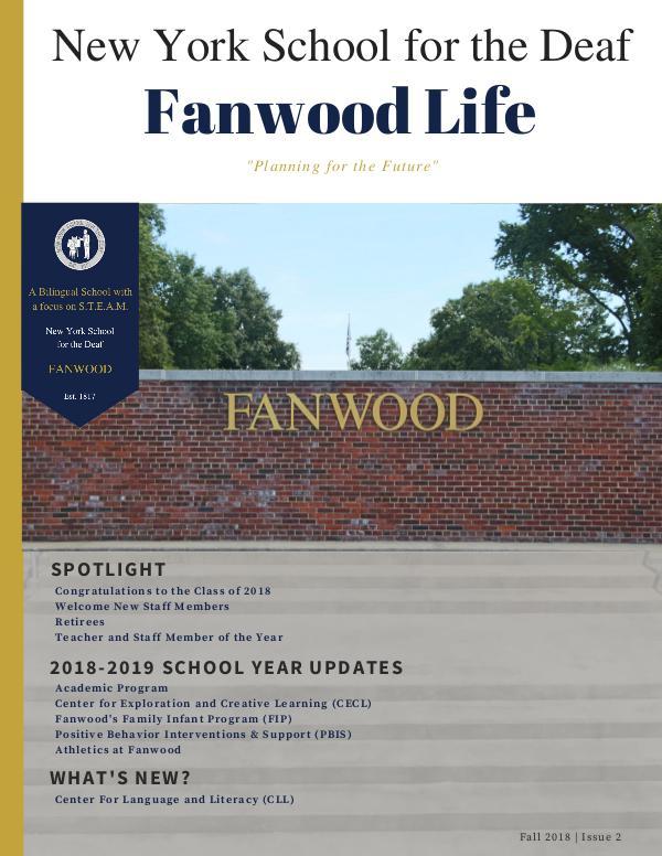 Fanwood Life Magazine Fanwood Life Magazine - Fall 2018