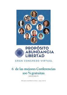 Congreso Propósito, Abundancia y Libertad.【6 Ponencias Gratis 】