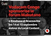 Vodacom Congo sponsor de la 4ème édition du Forum ''Makutano''
