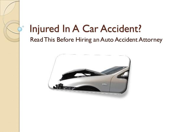 The Attkisson Law Firm, LLC Read This Before Hiring an Auto Accident Attorney