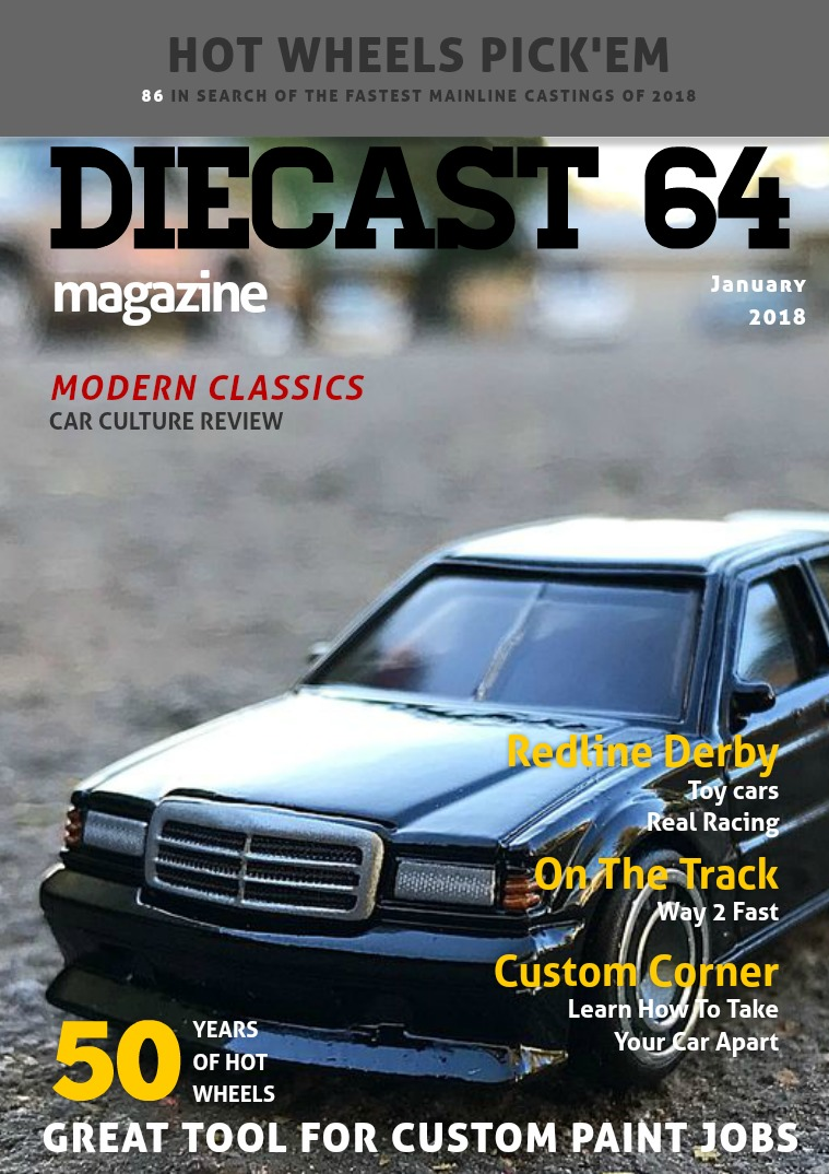 Diecast 64 Magazine January 2018