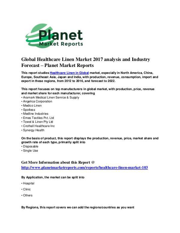 Healthcare Linen Market Healthcare Linen Market