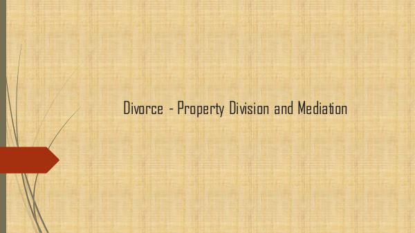 Eidelman & Associates Divorce - Property Division and Mediation