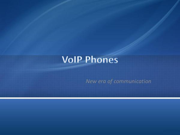 DCS Telecom VoIP Phones - New era of communication