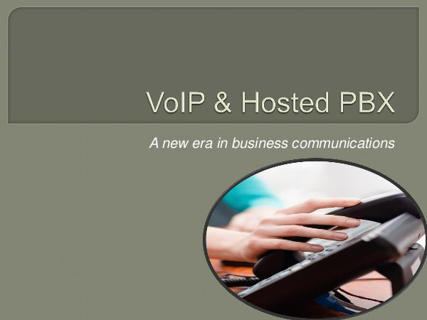 VoIP & Hosted PBX