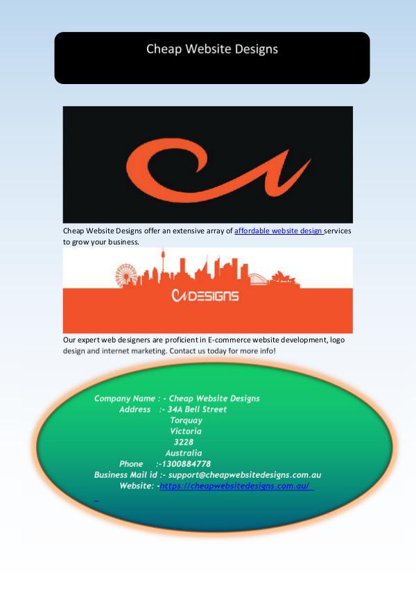 Affordable Website Design and Development Services Affordable Website Design and Development Services