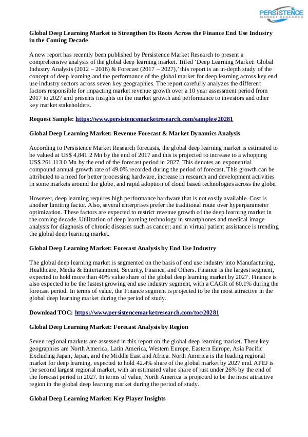 Technology Updates Deep Learning Market