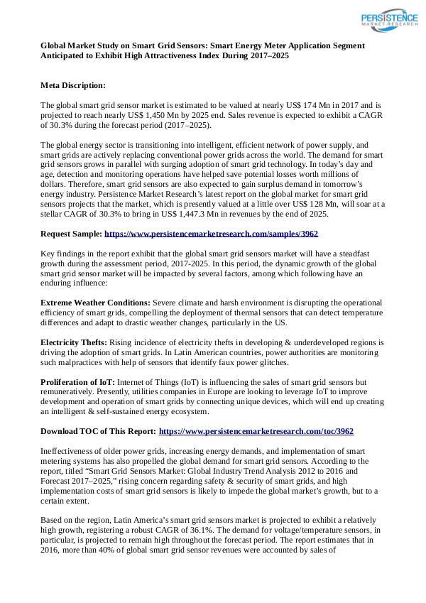 Smart Griad sensors Market