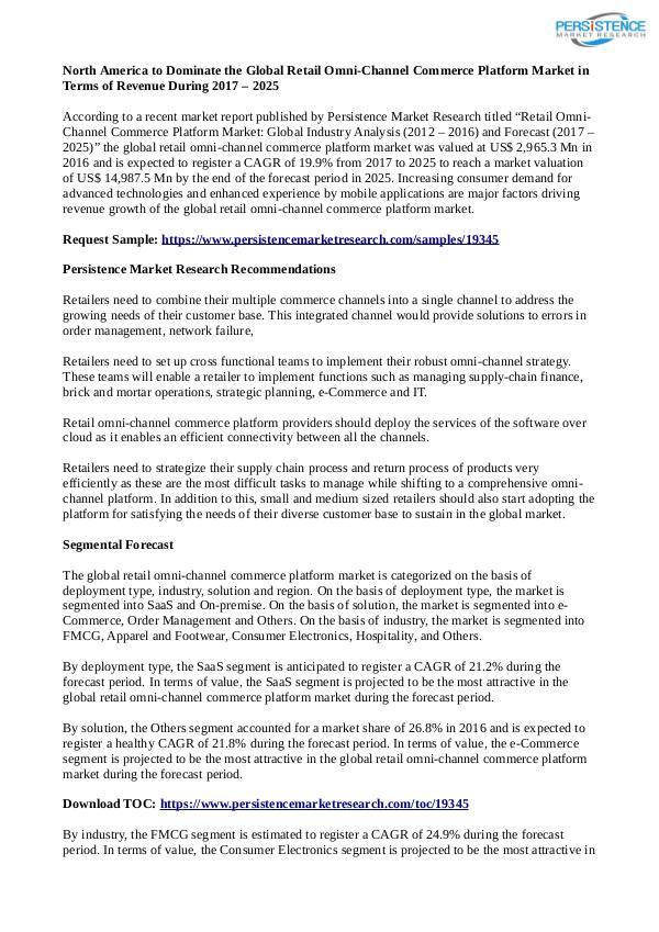 Retail Omni-Channel Commerce Platform