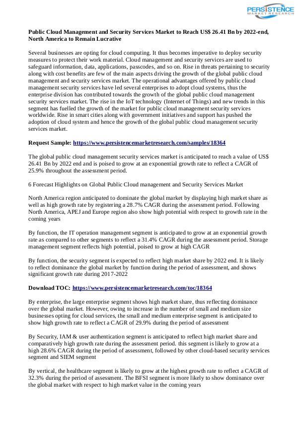 Public Cloud Management and Security Services