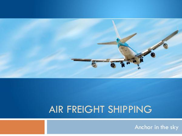 Air Freight Shipping Tips