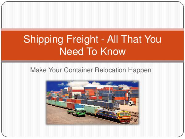 Shipping Freight - All That You Need To Know