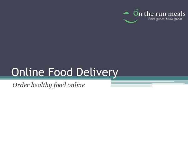 How To Order healthy food online