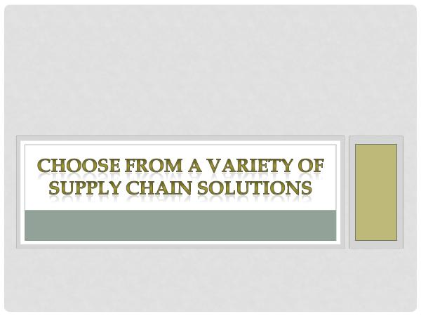 RoadLINX Inc Choose From A Variety Of Supply Chain Solutions