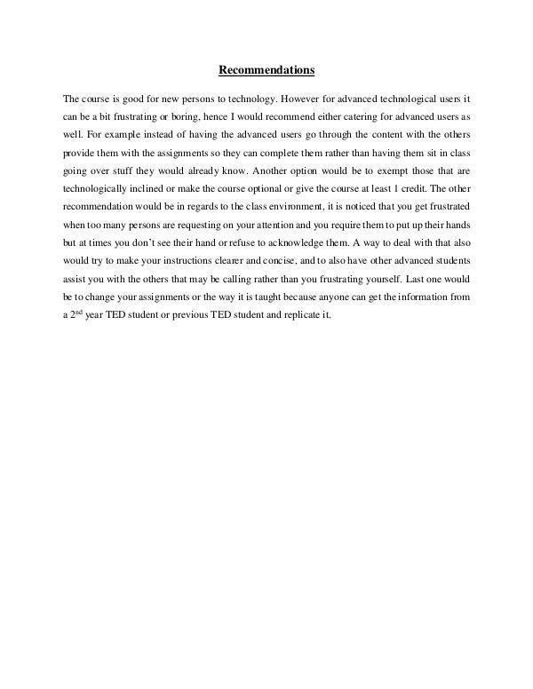 ICT Portfolio ICT L.Powell Recommendations