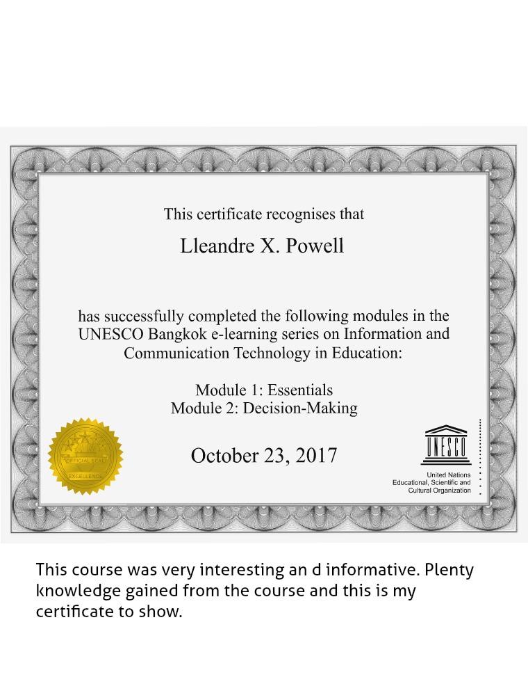 ICT Portfolio Certificate L.Powell