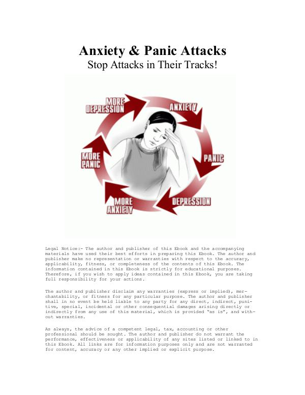 60 Second Panic Solution PDF / eBook Free Download Anna Gibson-Steel