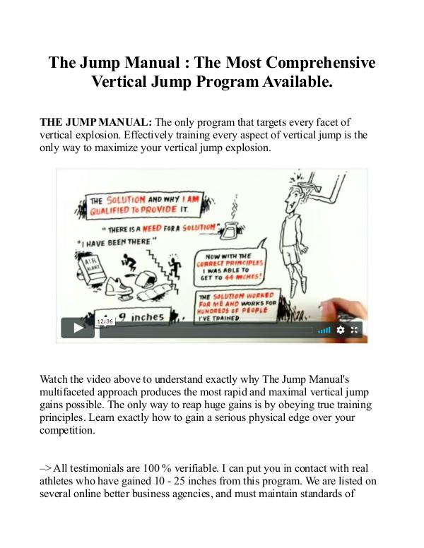 Jump Manual PDF / Book Program Free Download Jump Manual