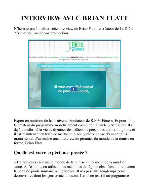 La Diete 2 Semaines PDF / Avis Gratuit Brian Flatt Livre Telecharger Diete 2 Semaines