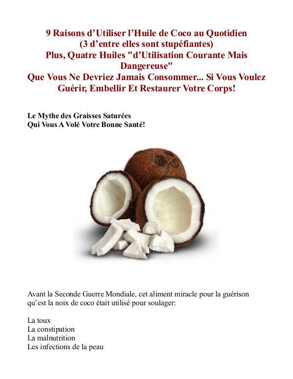 Le Secret De l'Huile De Coco PDF / Guide Livre Gratuit Telecharger Jake Carney