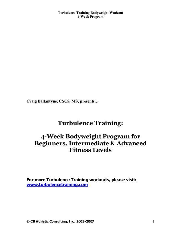 Turbulence Training 2.0 PDF / Workout Free Download Turbulence Training
