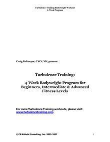Turbulence Training 2.0 PDF / Workout Free Download