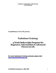 Turbulence Training 2.0 PDF / Workout Free Download