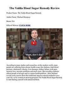 Vedda Blood Sugar Remedy PDF / Book Recipes Free Download