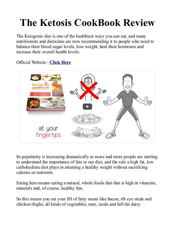 Ketosis Cookbook Melt The Fat Away PDF / eBook Program Free Download Ketosis Cookbook