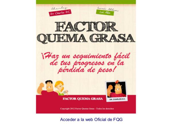 Factor Quema Grasa PDF / Libro Dr Charles Completo Descargar Gratis Español