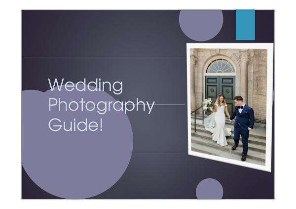 Wedding Photography Guide!