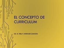Curriculum, linea del tiempo conceptual.