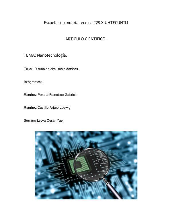 Laboratorio Circuitos eléctricos ARTICULO CIENTIFICO NANOTECNOLOGIA  pdf