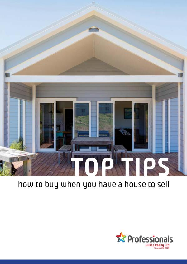 Top Tip Booklets TOP TIPS How to buy when you have a house to sell