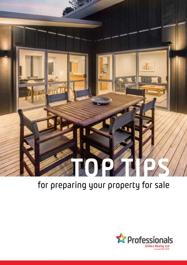 Top Tip Booklets TOP TIPS Preparing your property for sale